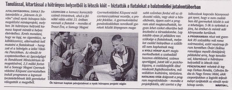 BM újságcikk